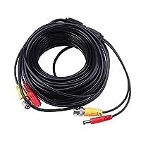 防犯カメラ用 同軸ケーブル BNCケーブル 延長ケーブル 延長コード 映像 電源一体型 20m BNC DC