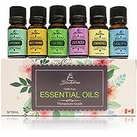 ブラックストーン100% Pure Essential Oils–ユーカリ、ティーツリー、ラベンダー、ペパーミント、レモングラス、Sweetオレンジ