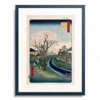 歌川 広重 Utagawa Hiroshige 「名所江戸百景 玉川 堤の花」 額装アート作品