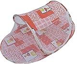 ベビー 用 蚊帳 選べる 5カラー 【DauStage】 折りたたみ式 コンパクト収納 携帯 旅行 キャンプ 公園 (04,くま オレンジ)