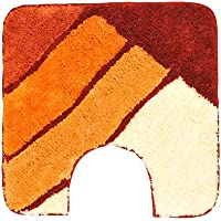 GRUND (グランド) トイレマット 北欧ブランド 55×55cm オレンジ/黄土色