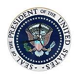 アメリカ合衆国の大統領の印ラウンドリビングルームの浴室の家の装飾のための柱時計 - 直径9.84インチ
