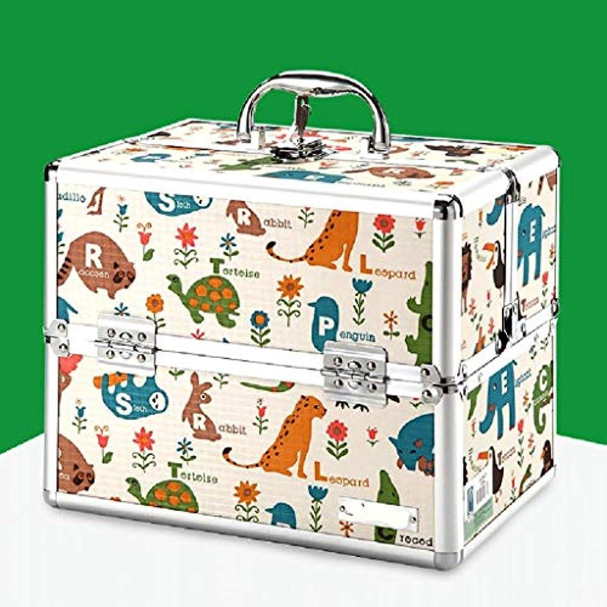 浴マトン福祉漫画薬箱家庭薬箱多層薬箱ポータブル救急箱薬収納ボックス CQQO (Color : C)