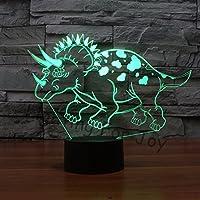 3d恐竜NightライトタッチテーブルデスクOptical Illusionランプ7色変更ライトホーム装飾クリスマス誕生日ギフト
