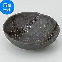 5個セット御影黒 中鉢 [ 15 x 14.5 x 4.6cm ] 【 中鉢 】 【 料亭 旅館 和食器 飲食店 業務用 】