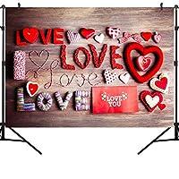 GooEoo 7×5FTバレンタインデーのテーマ絵布写真の背景コンピュータープリントビニールの背景VDD004