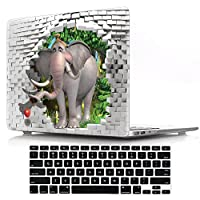 Macbook Retina 15 inch Cover Case,DIGIC Plastic Hard Laptop Case with Keyboard Cover for MacBook Pro 15.4 inch with Retina Display No CD-Rom(A1398),3D elephant