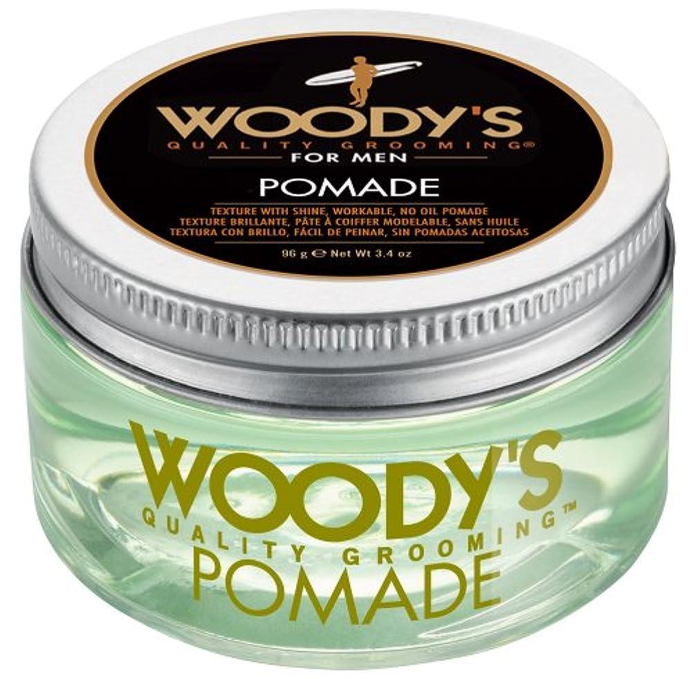 保持再生可能ブローホールWoody's Pomade for Men, Pomade, 3.4 Ounce