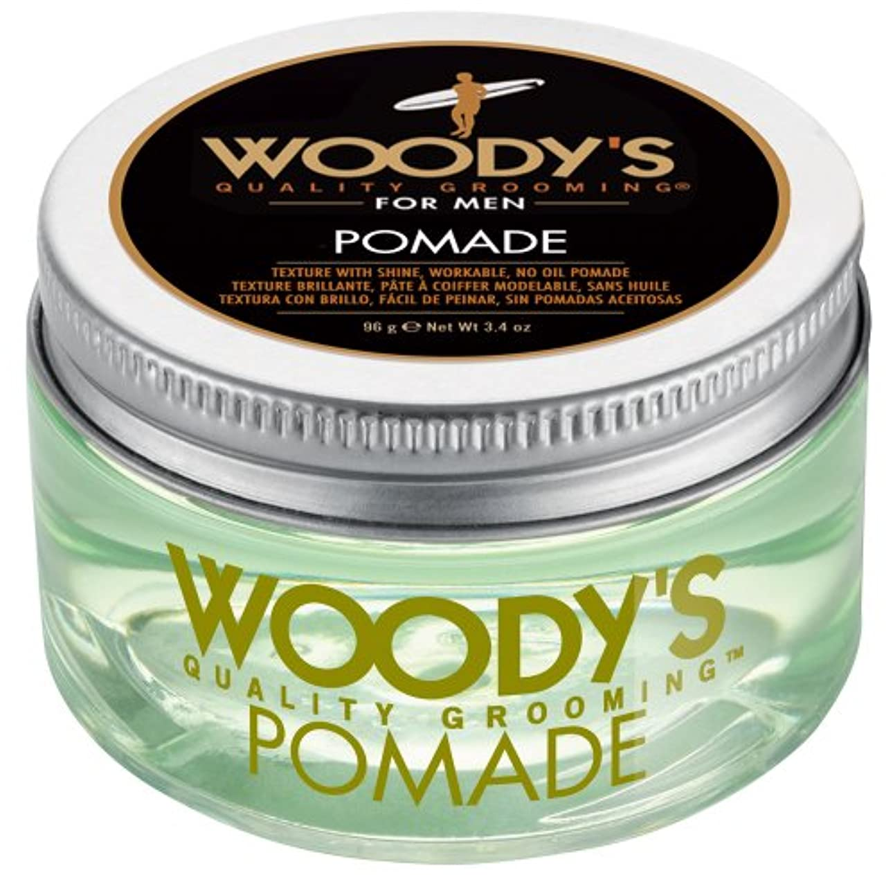 ヒゲクジラ歯葉を拾うWoody's Pomade for Men, Pomade, 3.4 Ounce