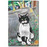 猫の足あと ポストカード 「街中のねこ」