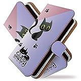 [KEIO ブランド 正規品] DM014SH ディズニー・モバイル ケース 手帳型 ネコ DM014SH 手帳型ケース 動物 DM014SH カバー ディズニー・モバイル 猫 ねこ ディズニー ケース ディズニーモバイル ケース ドコモ ケース DM ケース 014 ケース SH ケース 14 ネコ 肉球 リボン ittnクロネコカラフル黒猫t0132