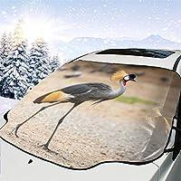 サンシェード 車フロント きれいなカンムリヅル 車のフロントガラス 日よけ 遮光 断熱 日焼け防止 四季用 防紫外線 落葉対策 車内温度対策 防水材料