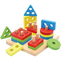 子供早期教育建物ブロック木製おもちゃ