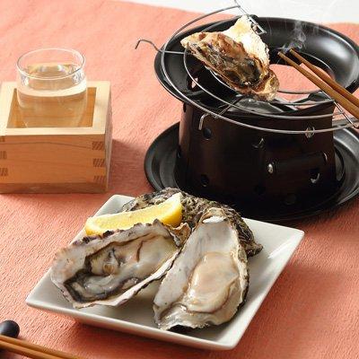 加熱用殻付き牡蠣とかき燻製のセット〔加熱用殻付き牡蠣18〜20個、牡蠣燻製2粒×2〕