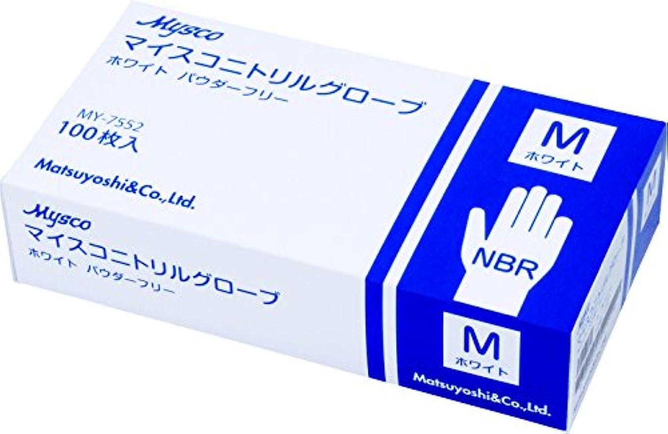 鏡ジャケット学習使い捨て手袋 ニトリルグローブ ホワイト 粉なし(サイズ:M)100枚入り 病院採用商品