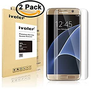 【2枚入り】Samsung Galaxy S7 Edge フィルム iVoler 耐指紋 耐衝撃 耐久性 撥油性 柔軟性 高透過率 超薄 HD画面