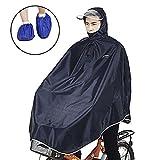 レインコート Leetaker ポンチョ 男女兼用 レディース メンズ 自転車 通勤 厚手生地 雨具 防水 xxxl (深いブルー) [並行輸入品]