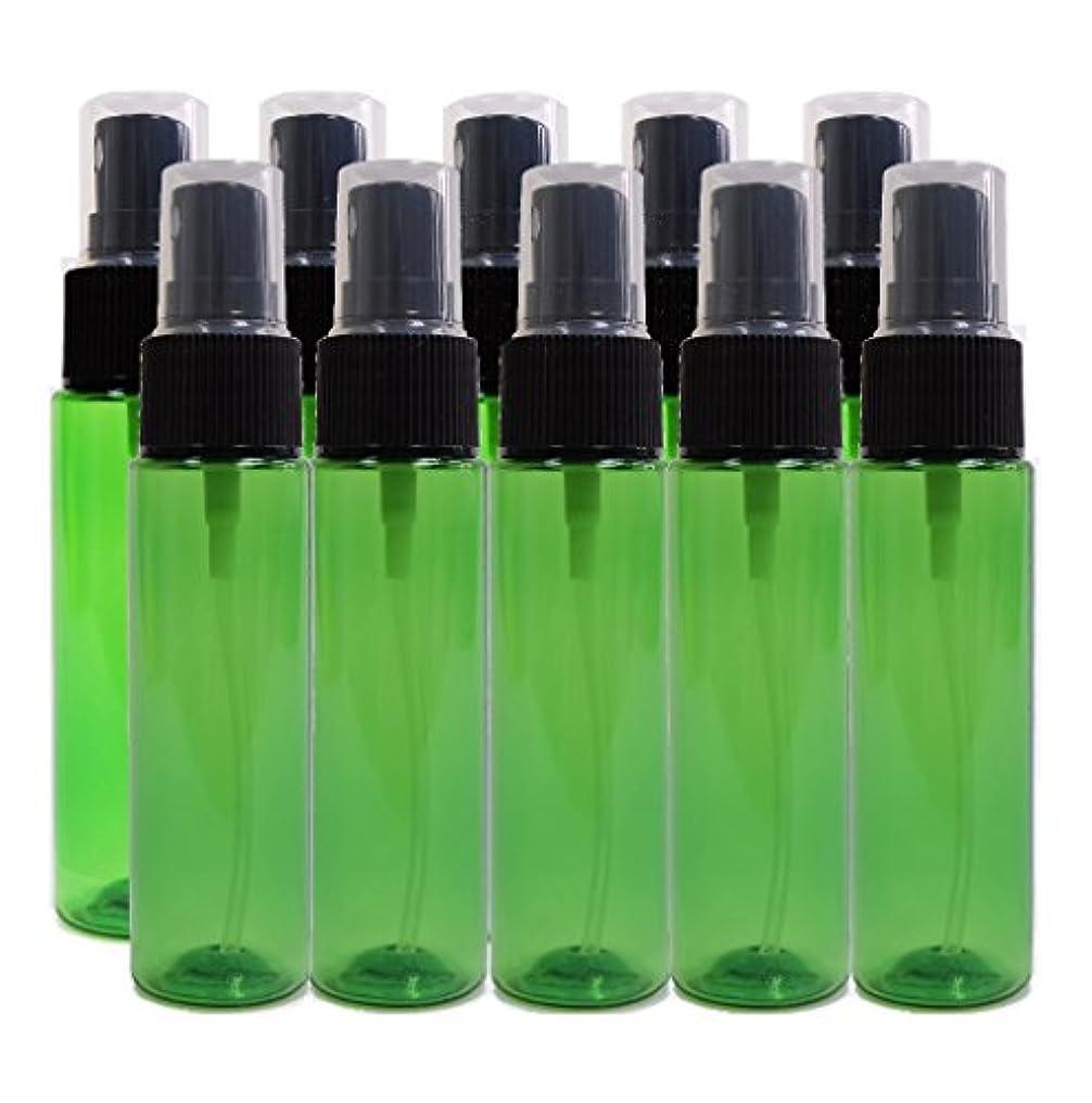 平らなしばしばビーチease 保存容器 スプレータイプ プラスチック 緑色 30ml×10本