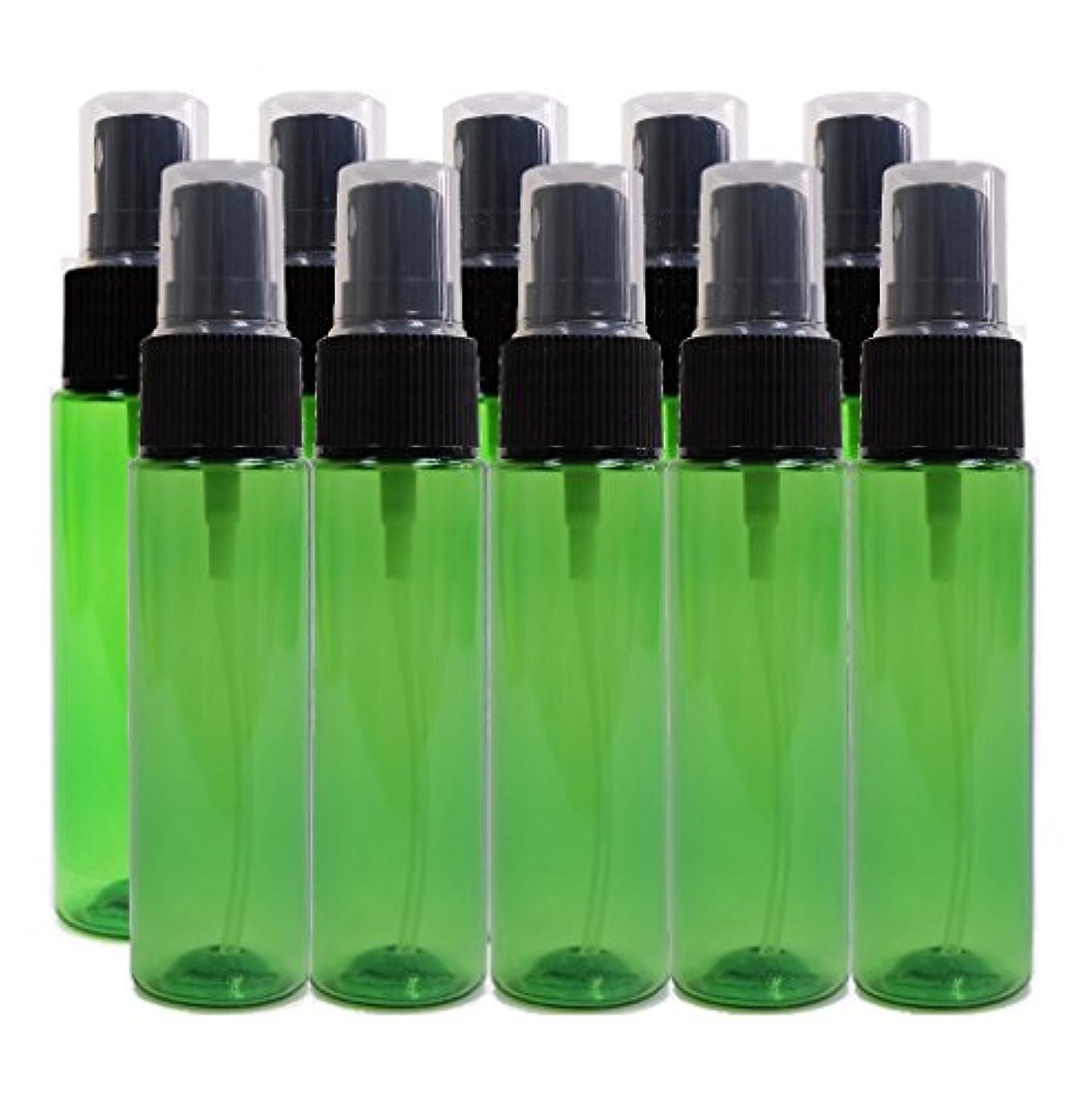 最愛のええ感情ease 保存容器 スプレータイプ プラスチック 緑色 30ml×10本