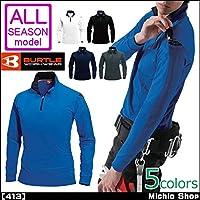 バートル 作業服 長袖ジップシャツ 413 ユニセックス ポロシャツ LL 17クーガー