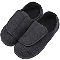 Womens Orthopedic Extra Wide Fit Slippers Diabetic Edema Shoes Bunions Relief with Adjustable Closures
