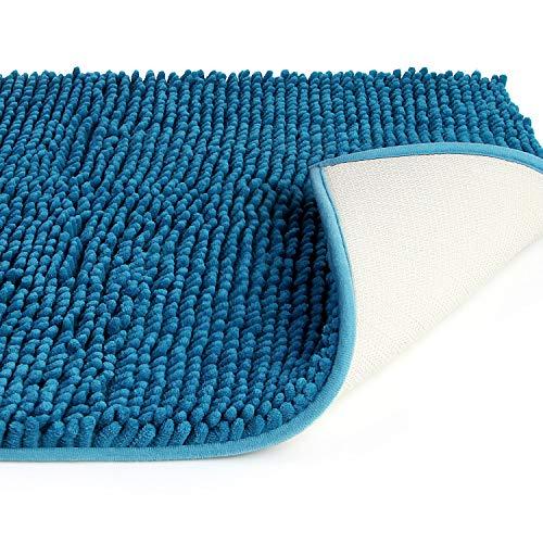 Vdomus バスマット 足ふきマット 速乾 吸水 抗菌 ふわふわ 丸洗い 風呂 浴室 玄関 マット (50x80cm, 御納戸)