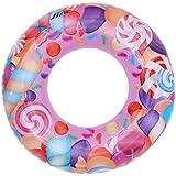 C-Princess 子供 浮輪 浮き輪 ベビーフロート スイムリング ボディリング 胴回り 可愛い キッズ 赤ちゃん 女の子 お風呂 海水浴 ブルー 水遊びに 80cm