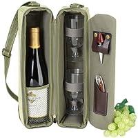 ワインボトル・ショルダーバッグ & ワイングラスx2 【並行輸入品】