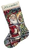 """ディメンジョンズ クロスステッチ 刺繍キット""""クリスマスの靴下・ステッキキャンディー""""                   Dimensions Needlecrafts Counted Cross Stitch, Candy Cane Santa Stocking kit               DIM クロスステッチキット Candy Cane Santa Stocking kit 【並行輸入品】"""