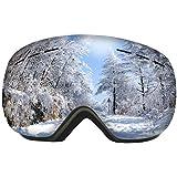 Ski Goggles - Over Glasses Ski/Snowboard Goggles for Men, Women & Youth - 100% UV Protection