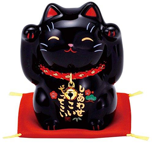 彩絵福招き猫(黒) AM-Y7533