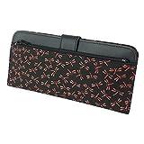 INDEN-YA 印傳屋 印伝 財布 長財布 薄型 メンズ レディース 男性用 女性用 黒×赤 とんぼ 2107-21-008