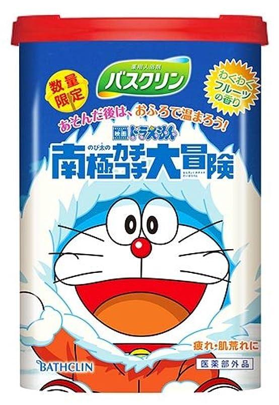 シュリンク肌寒い列挙する【数量限定】バスクリン わくわくフルーツの香り ドラえもんデザイン 600g(入浴剤)