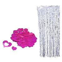 SONONIA 輝き プラスチック製 ハート ぶら下がり 渦巻き すワール 結婚式 パーティー ホーム 装飾 全6色 - ローズ