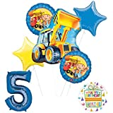 Mayflower Products Bob The Builder Construction Party Supplies 5歳の誕生日用バルーン ブーケ デコレーション
