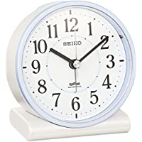 セイコー クロック 目覚まし時計 電波 アナログ 薄青 パール KR328L SEIKO