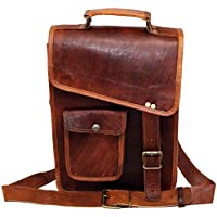 MNI Small Leather Messenger Bag Shoulder Bag Cross Body Vintage Messenger Bag for Women & Men Satchel