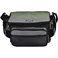 釣りバッグ フィッシング タックルバッグ 袋 ケース 大容量 複数のポケット ショルダーストラップ 調節可能 多機能 防塵通気 ルアー/リールなどに対応