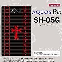SH05G スマホケース AQUOS PAD SH-05G カバー アクオス パッド ゴシック 黒×赤 nk-sh05g-1010