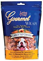 Loving Pets All Natural Premium Carrot and Chicken Wraps with Glucosamine and Chondroitin Dog Treats, 6-Ounce by Loving Pets