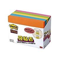 3M (まとめ) ポストイット 強粘着ノート 75×100mm ネオンカラー5色 657-5SSAN 1パック(5冊) (×4セット)