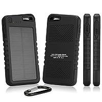 Silent Circle Blackphone Battery BoxWave [Solar Rejuva PowerPack (5000mAh)] Solar Powered Backup Battery for Silent Circle Blackphone - Jet Black [並行輸入品]