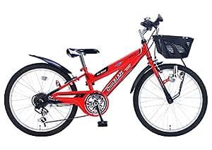 My Pallas(マイパラス) 子ども用自転車 MTB22 22インチ 6段変速 CIデッキ付 レッド