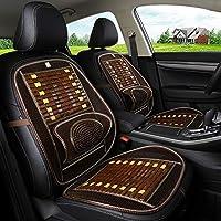 車の通気性シートカバー、竹製クッション - シングルクールパッド - 通気性バックパッド - ワンピースクッションサイズ48 * 92 cm,B