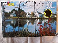 Encore 500 Piece Puzzle - Marlow, New Hampshire Featuring the Marlow United Methodist Church , Odd Fellows in the Fall [並行輸入品]