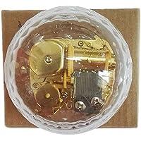 クリエイティブWind - Upアクリルプラスチック透明音楽ボックスwithメッキ。動きで、様々な形状ミュージカルボックス、Let It Go Ball-shaped Transparent