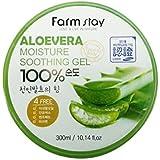 Farm Stay - Aloe Vera Moisture Soothing Gel 300 ml for men and woman - 100% Aloe Vera for dry skin - Facial Treatment - Moist