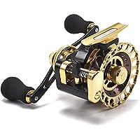 カセ釣り 筏リール ヘチ釣り 2.6:1 10BB ゴールド 落とし込み 筏用片軸リール タイコリール レベルワインダー付き