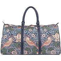 Signare Tapestry Big Holdall Weekender Luggage William Morris Strawberry Thief Blue