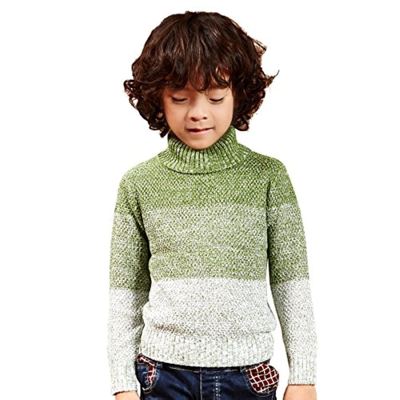 NABER ボーイズ ファッション ハイネック 暖かい セーター 齢 4-14 歳